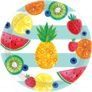 wholesale Party Items: 8 plate Hello summer paper 26 cm