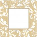 8 Teller Goldene Hochzeit 25,4 cm