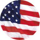 8 Teller USA 26,6 cm