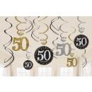 12 Deco spirál 50 Csillogó ünneplés - Ezüst