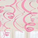 12 decoratieve spiralen lichtroze 55,8 cm