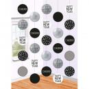 5 cirkels hangende decoratie Disco ball drop