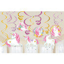 12 deco spirals Magical Unicorn