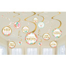 12 decoration spirals Boho Birthday Girl