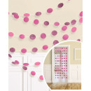 6 deco hangers glitter pink 213 cm