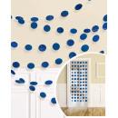 6 deco hangers glitter royal blauw 213 cm