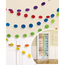 6 deco hangers glitter rainbow 213 cm