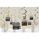 12 dekoratív spirál Hollywood 61 cm