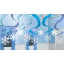 15 deco spirálok Winter Wonderland 61 cm