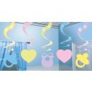 5 dekorációs spirál Baby Shower 61 cm