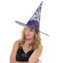 Chapeau de sorcière classique violet taille unique