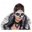 Venetian Mask Black & Bone