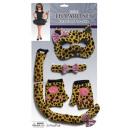 Großhandel Kinder- und Babybekleidung: Accessoire-Set Leopard für Kinder