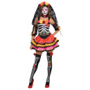 Ladies Costume Day of the Dead Senorita Size M