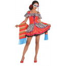 Ladies Costume Day of the Dead Sugarskull Size L
