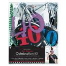Fél készlet 6 darab 40. születésnapja