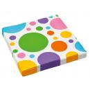 20 servilletas Dots & Chevron rainbow colors 3