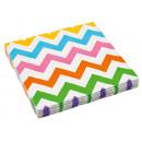 20 serviettes Chevron & Chevron couleurs arc-e