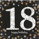 16 serviettes 18 Célébration pétillante - Argent &
