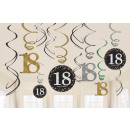 12 Deco Spirals 18 Sparkling Celebration - Ezüst
