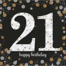 16 Servietten 21 Sparkling Celebration Gold 33 x 3