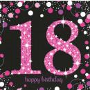 16 Servietten 18 Sparkling Celebration - Pink 33 x