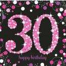 16 Servietten 30 Sparkling Celebration - Pink 33 x