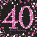 16 Servietten 40 Sparkling Celebration - Pink 33 x