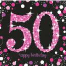 16 Servietten 50 Sparkling Celebration - Pink pris
