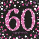 16 Servietten 60 Sparkling Celebration - Pink pris