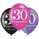 6 latex lufi 30 éves rózsaszín ünneplés 27.5cm / 1