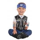 grossiste Jouets: Costume Enfant Bébé Motard 0-6 mois
