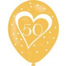 6 Latexballons Goldene Hochzeit