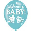 6 globos de látex Woodland Bienvenido