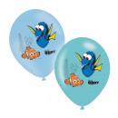 6 latex ballon Dorie 4-színű 27,5cm / 11 '