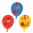 6 Halloween balloons blood spatter