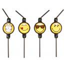 8 Trinkhalme Smiley Emoticons