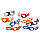 grossiste Jouets: 8 masques Half Shell Heroes 19,0 x 10,3 cm