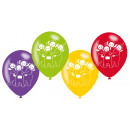6 latex balloons Teletubbies 22,8cm / 9 '