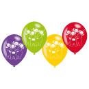 6 Latexballons Teletubbies 22,8cm/9'