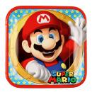 8 plate Super Mario, square 23 x 23 cm
