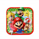 8 plate Super Mario, square 18 x 18 cm