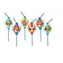 8 drinking straws Super Mario 24 cm