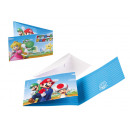 8 Invitations Super Mario