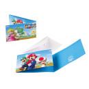 8 Uitnodigingen Super Mario