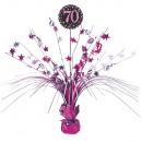 Asztali dekoráció Rózsaszín ünnep 70 év