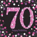 16 szalvéta Pink Celebration 70 év