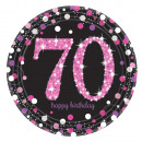 8 plate Pink Celebration 70 years Prismatic 23cm
