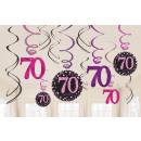 12 deco spirál Rózsaszín ünneplés 70 év