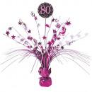 Asztali dekoráció Rózsaszín ünnep 80 év